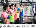 Functional fitness workout in sport gym 33320105