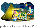 camp, camping, family 33322835