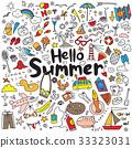 vector illustration set of summer elements 33323031