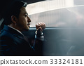 The portrait of a businessman sitting in the car 33324181