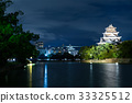 Hiroshima Castle in Hiroshima at night 33325512