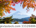 Autumn season and Mount fuji 33326886