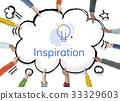 Creative Innovation Inspiration Light Bulb Graphic Word 33329603