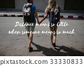 Friends Travel Backpacker Journey with Quote Graphic 33330833