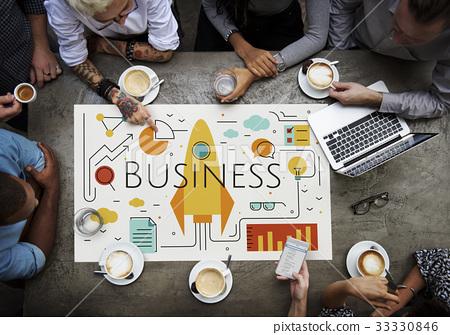 Business Objectives Goals Progress Improvement Concept 33330846