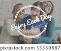 Family Enjoy Life Together Happiness Positive Life Word Graphic 33330887