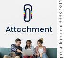 Paper Clip Mail File Attachment Graphic 33332304