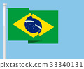 Brazil flag with copyspace 33340131