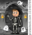 Boy in Halloween costume theme image 1 33340764
