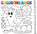 coloring painted ghost 33340767