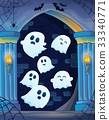 Ghosts in haunted castle theme 4 33340771