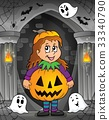 Girl in Halloween costume theme image 1 33340790