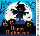 Happy Halloween sign thematic image 4 33340796