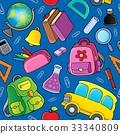 School theme seamless background 2 33340809