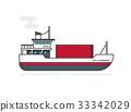 容器 船 貨物 33342029
