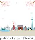 東京風景春天例證 33342043