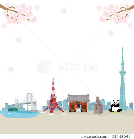 东京 矢量 地标 33342043