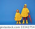 children with red umbrella 33342754