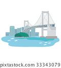 도쿄 레인보우 브릿지 일러스트 33343079