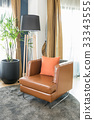 modern chair with black lamp 33343555