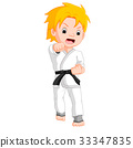 boy, cartoon, karate 33347835