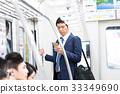 사업가, 전철, 통근 촬영 협조 : 게이오 전철 주식회사 33349690