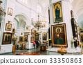 Minsk, Belarus. Parishioners praying in Cathedral 33350863
