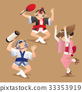 Female and male dancers of Awa dance festival 33353919