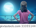 Portrait of little girl dressed in aviator hat 33355144