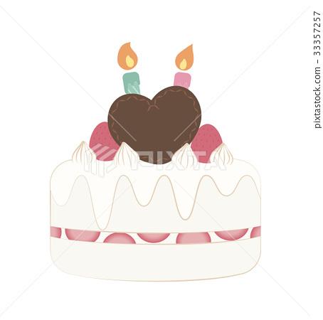 Superb 2 Years Old Birthday Cake Stock Illustration 33357257 Pixta Funny Birthday Cards Online Hendilapandamsfinfo