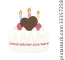 生日蛋糕 裱花蛋糕 慶生 33357258