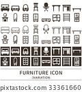 furniture, furnitures, icon 33361660
