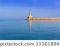 Lighthouse in harbour of Chania on Crete, Greece 33361894
