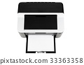 Compact printer isolated 33363358