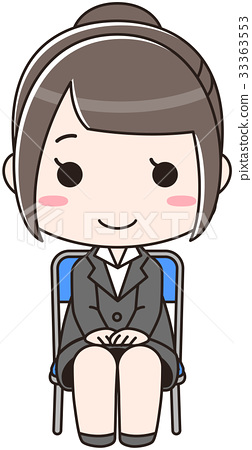 ผู้หญิงสัมภาษณ์ (เก้าอี้ไขว้) 33363553
