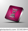 The vector 3d button.Sand glass symbol 33363844