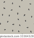 Seamless pattern with flies 33364328