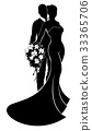 Wedding Bride and Groom Silhouette 33365706
