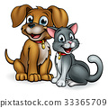 Cartoon Cat and Dog Pets 33365709