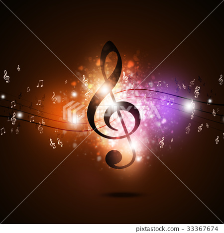 Multicolor Music Notes 33367674