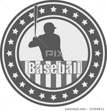 baseball emblem - vector 33368812