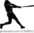 baseball player silhouette 33368832