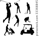 golf players silhouettes 33368845