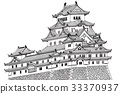 Himeji Castle 2 [Hand-painted] 33370937