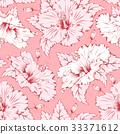 Hibiscus seamless pattern 33371612