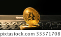 close up golden bitcoin coin crypto Currency  33371708