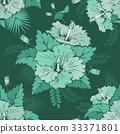 Hibiscus seamless pattern 33371801