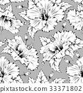 Hibiscus seamless pattern 33371802