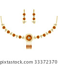 Amber jewel set. Necklace and earrings 33372370