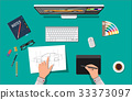 vector, design, desk 33373097